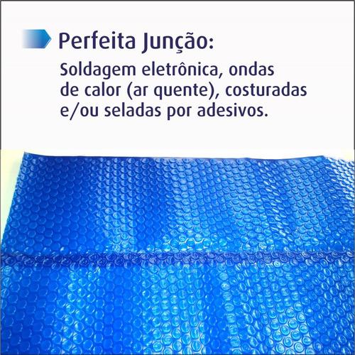 capa bolha lona térmica para piscina 3x6 mts thermocap