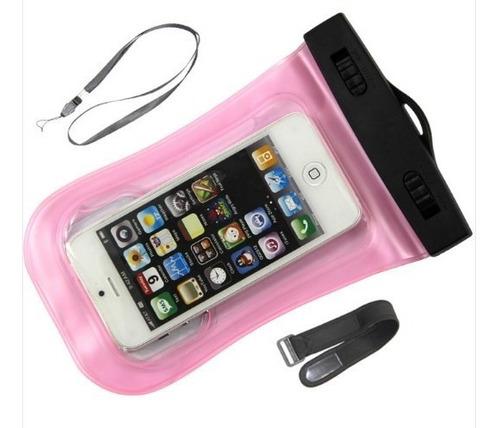 capa bolsa estanque prova d´água iphone 6 5 5s 5c 4 4s pink