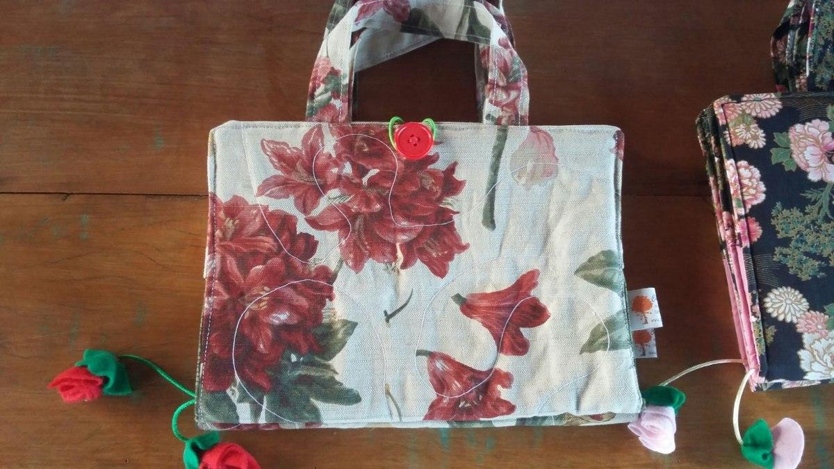 Bolsa De Tecido Para Carregar Livros : Capa bolsa para livro caderno b?blia de tecido r