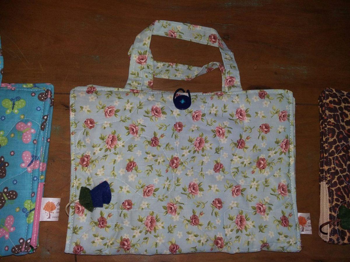 Bolsa De Tecido Para Carregar Livros : Capa bolsa para livros biblia caderno ou agenda em tecido
