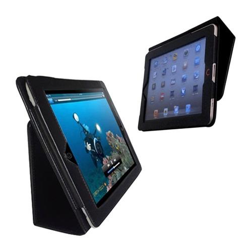 capa book case couro sintético apple ipad 2 3 4 retina 9.7