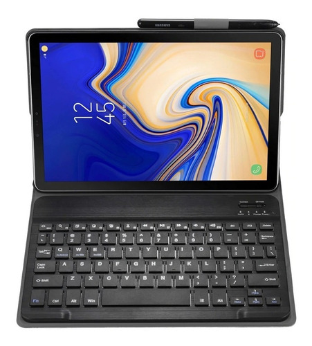 capa book cover teclado samsung galaxy tab s4 10.5