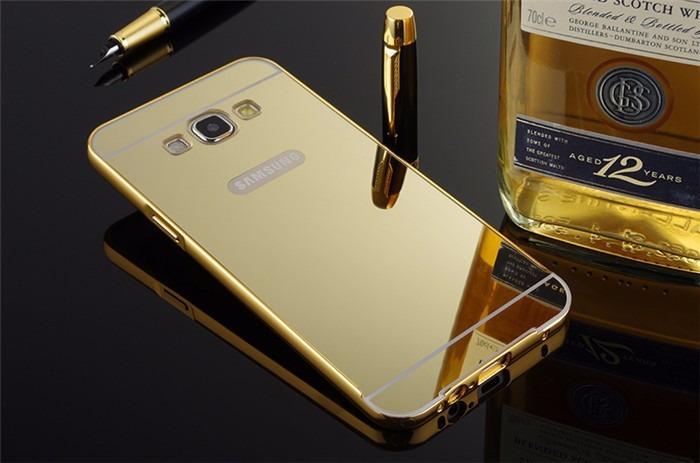 capa bumper aluminio espelhada samsung galaxy j5 1p vidro