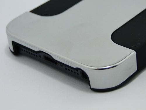 capa bumper case luxo para iphone 5/5s + película de vidro