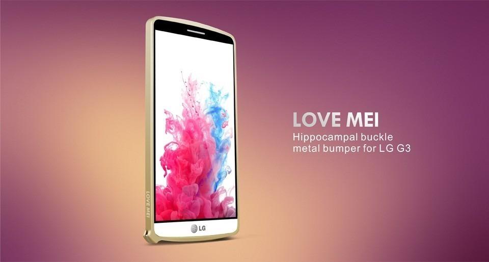 ea92e677bf5 capa bumper love mei de alumínio lg g3 -varias cores. Carregando zoom.