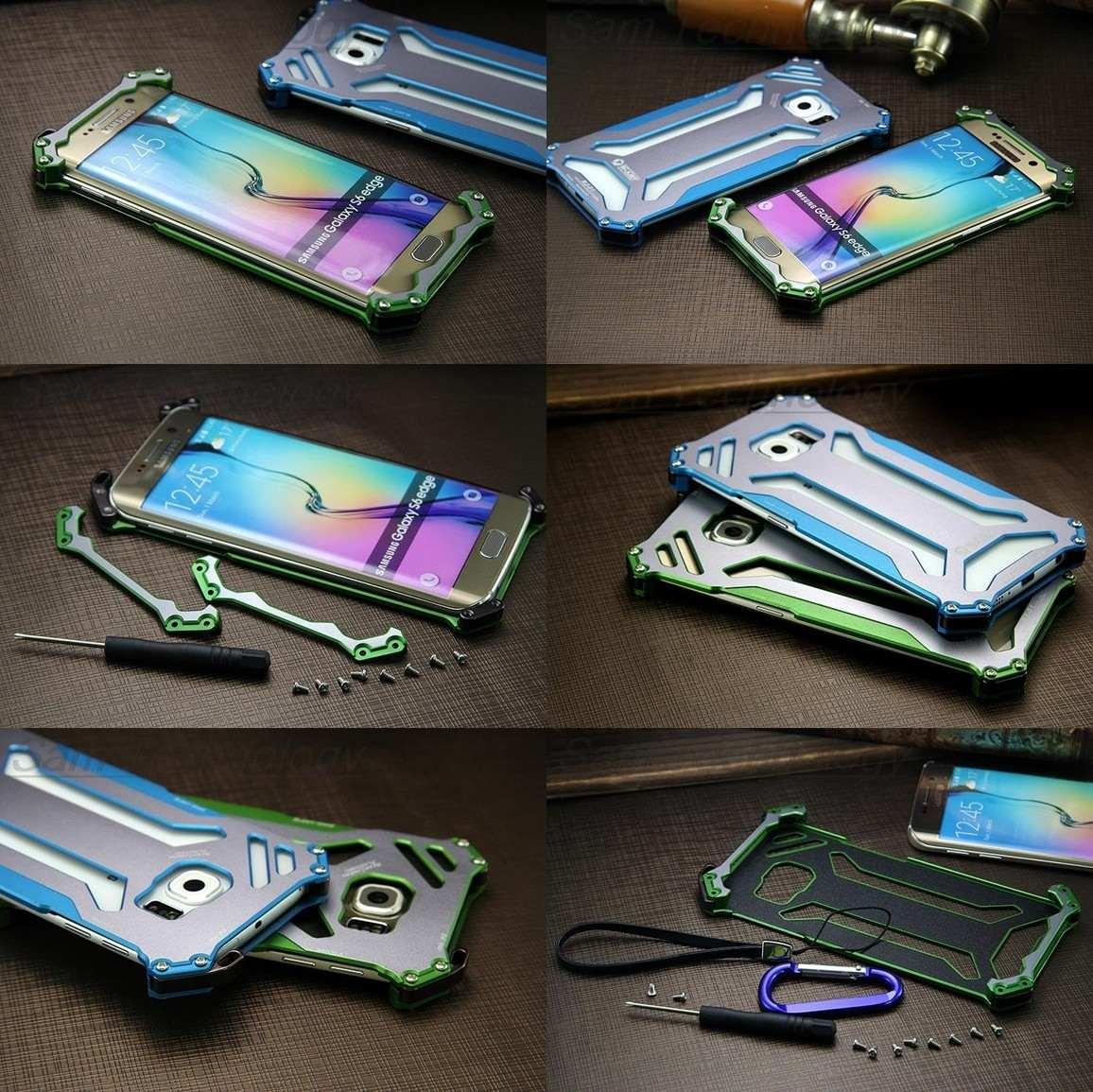 ae8057a7f1fe2 Capa Bumper Metal R-just Celular Samsung Galaxy S7 Edge G935 - R ...