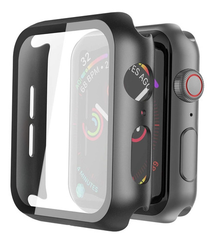 capa bumper vidro + pulseira compatível apple watch premium