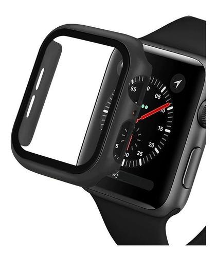 capa bumper vidro temperado compatível apple watch premium