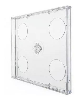 capa / caixinha / estojo cd box duplo transparente 5 uni