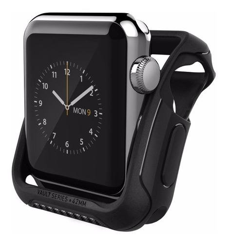 capa capinha apple watch 3 / 2 42mm caseology vault original + kit 2 películas de hydrogel