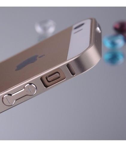 the latest c6e83 45369 Capa Capinha Bumper Metal Dourado Premium iPhone 5 iPhone 5s
