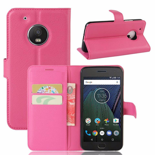 capa capinha carteira couro rosa moto g5 xt1672 envio rápido