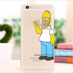 super popular 858cf 3c8f0 Capa Capinha Case Desenhada Homer Simpson iPhone 8 Plus
