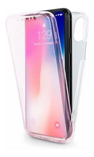 capa capinha case iphone 360º frente e verso rosa