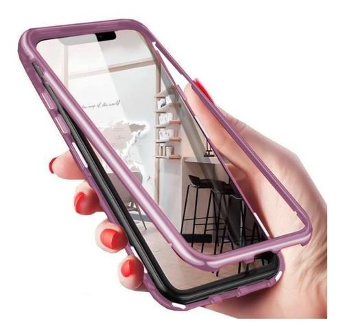 capa capinha case iphone magnética 180º rosa
