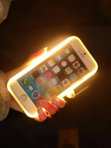 capa capinha case lumee iphone 7 7 8 plus selfie foto luz