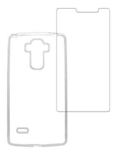 capa capinha case tpu lg g4 stylus + pelicula de vidro