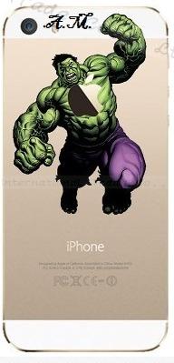 capa, capinha de iphone 5s - hulk + película de vidro