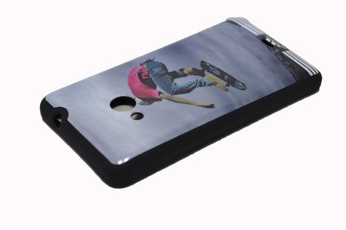 capa capinha esportes skate nokia lumia 535 - frete grátis!