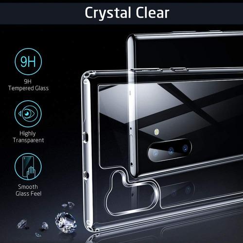 capa capinha galaxy note 10 (6.3 ) esr mimic vidro temperado case transparente