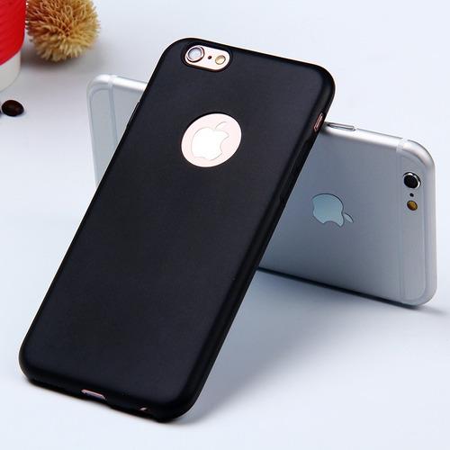capa capinha iphone 6 6s e plus 5.5 silicone fosca ultrafina