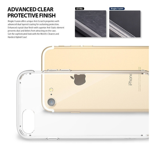 capa capinha iphone 8/7 ringke fusion transparente original