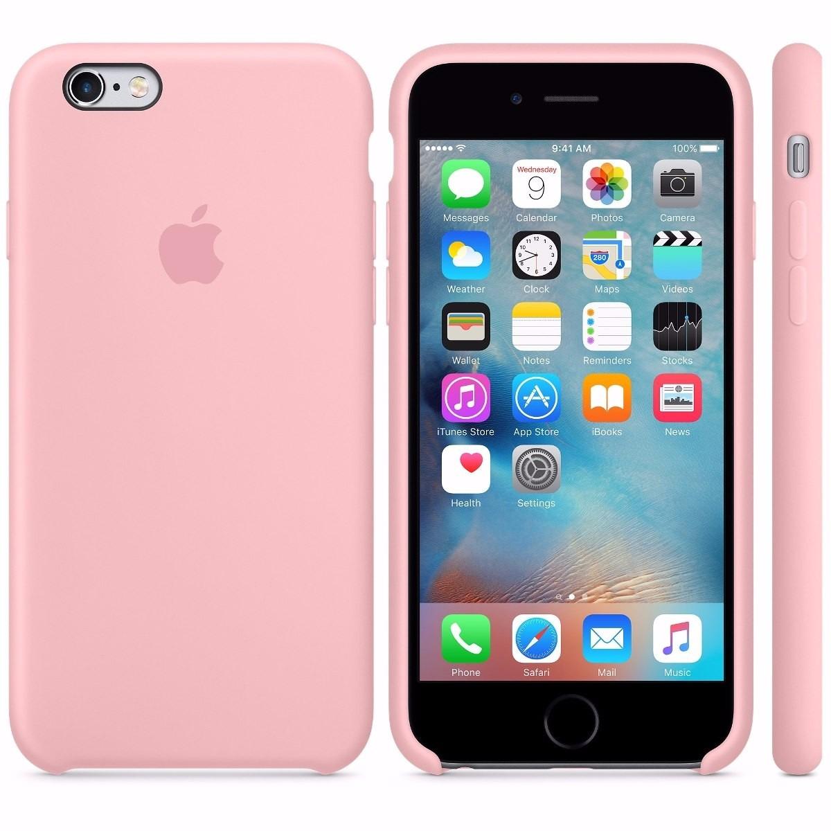 6d9ddc23c Capa Capinha Silicone Couro Celular Apple Iphone 6 E 6s 4