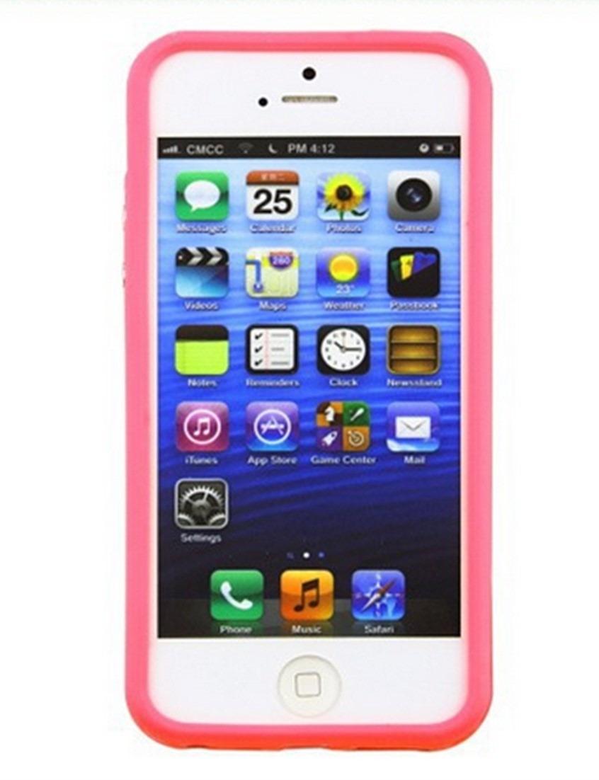 b34820e21df capa capinha tpu bumper rosa com proteção iphone 5 iphone 5s. Carregando  zoom.