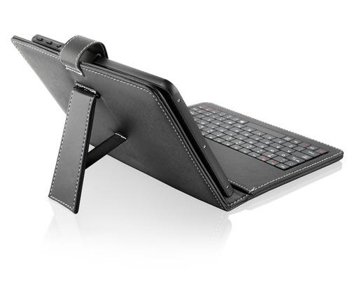 capa capinnha case couro teclado mini slim usb p/ tablet 9.7