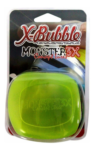 capa carretilha protetora direita x-bubble monster verde