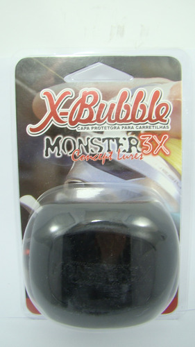 capa carretilha protetora esquerda x-bubble monster preto