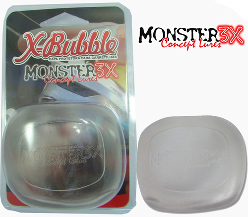 capa carretilha protetora esquerdo xbubble monster transpare