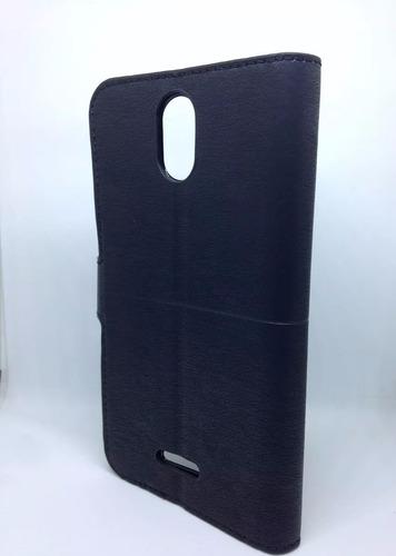 capa carteira couro positivo twist s520 + película vidro