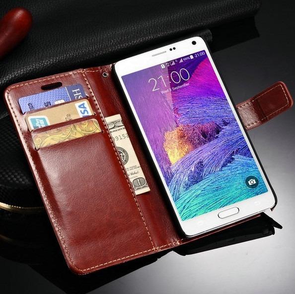 1491d63b8 Capa Carteira Couro Samsung Galaxy Note 4 N9100 + Pelicula - R  49 ...