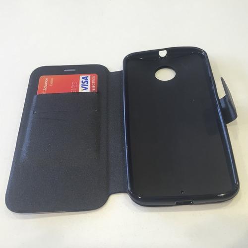 capa carteira flip moto x2 xt1096+pelicula de vidro