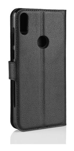 capa carteira flip zenfone max pro m1 zb602 + pelicula vidro