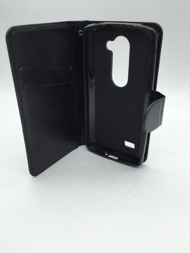 capa carteira lg leon h326 +película vidro