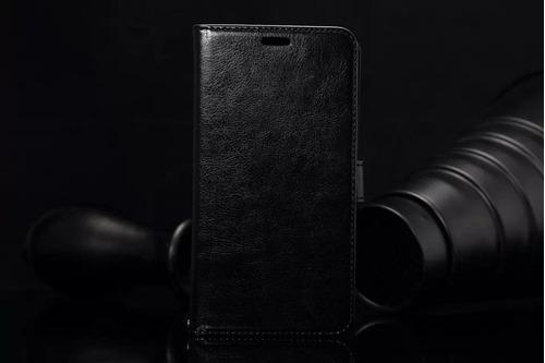 capa carteira luxo nexus 6 + vidro temperado - frete grátis