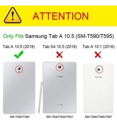 capa carteira p/ galaxy tab a 10.5 2018 sm-t590 t595 e t597