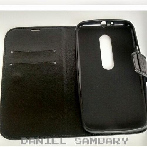 capa carteira + pelicula de vidro moto g3 xt1544 xt1543 case