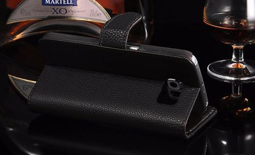 capa carteira premium luxo samsung s6 couro executive