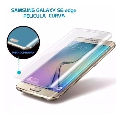 capa carteira samsung galaxy s6 edge g925  + película curva