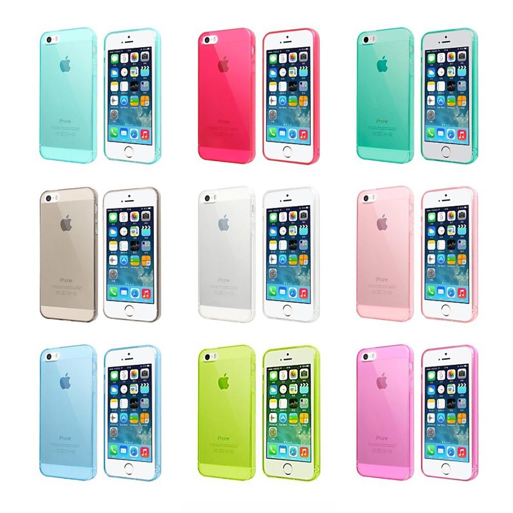 fa63e806d3f Capa Case 1.0mm Silicone Premium P/ iPhone Se 5s 5 +película - R$ 25,98 em  Mercado Livre