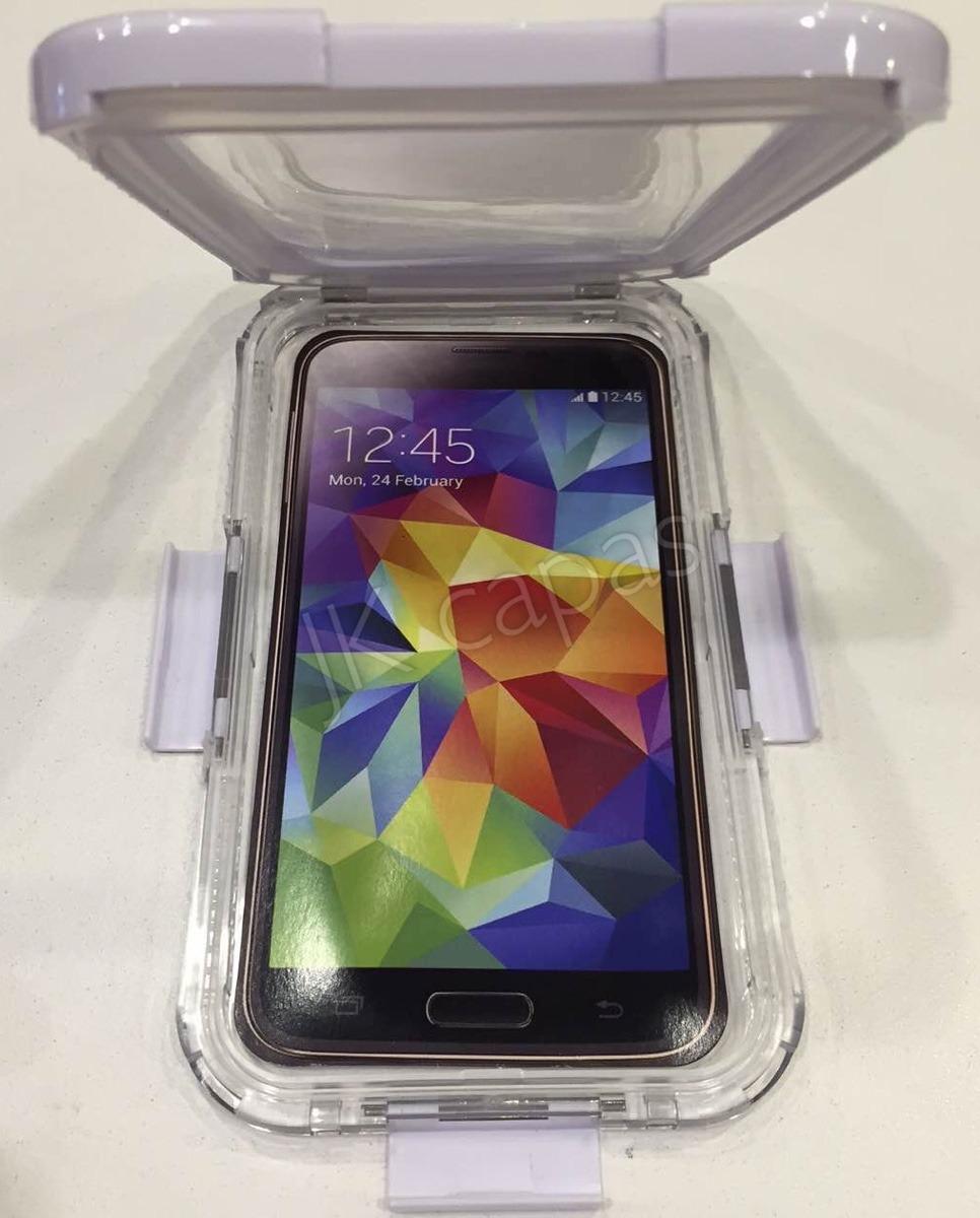 b46b32450a0 Capa Case A Prova Dagua Celular Samsung Galaxy S5 New Editi - R  110 ...
