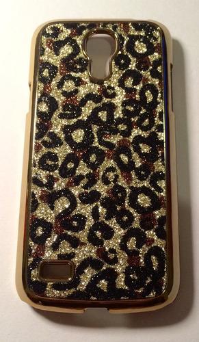 capa case acrílico onça samsung s4 mini i9192 dourado