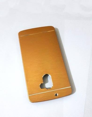 capa case alumínio celular lenovo vibe a7010+película vidro