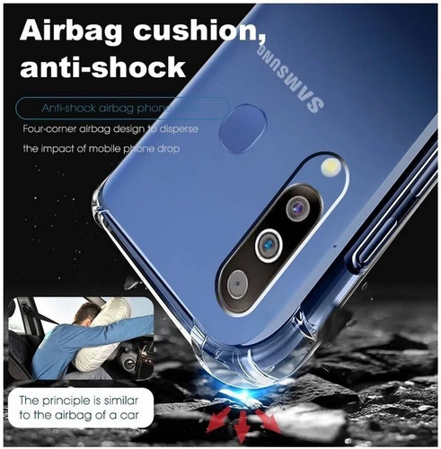 capa case anti impacto king kong galaxy a30  + pelicula 5d