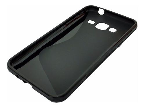 capa case anti impacto samsung j3 2016 + película de vidro