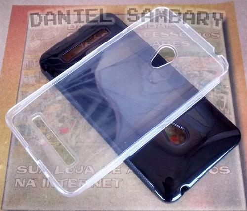 capa case asus zenfone 5 a500 a501 tpu silicone super oferta