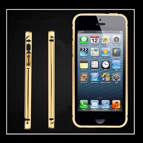 6722b97a4 Capa Case Bumper Alumínio Espelhada Para Iphone 5 5s Rosa - R  14
